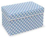 Badger Basket Double Folding Blue Polka Dot Storage Seat