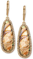 lonna & lilly Gold-Tone Iridescent Stone Drop Earrings