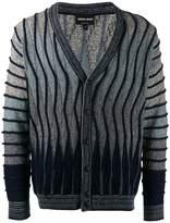 Giorgio Armani undulating ripples cardigan