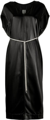 Rick Owens Waist-Tied Midi Dress