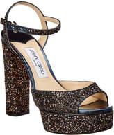 Jimmy Choo Peachy 125 Glitter Sandal