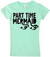 Micro Me Mint 'Part Time Mermaid' Fitted Tee - Infant Toddler & Girls