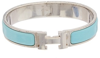 Hermes Palladium Narrow Enamel Clic Clac H Bracelet