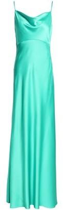 Diane von Furstenberg Draped Satin-crepe Gown