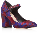 Via Spiga Deanna Satin Mary Jane Block Heel Pumps