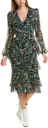 Saloni Alya Silk Midi Dress