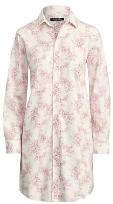 Ralph Lauren Floral Cotton Sleep Shirt