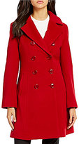 Katherine Kelly Double Breasted Fit-and-Flare Cashmere Blend Coat
