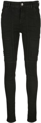 Rick Owens Stitched Panels Skinny Jeans