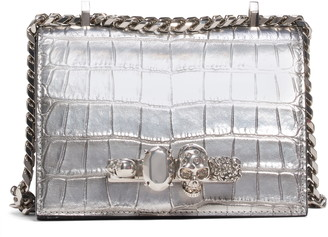 Alexander McQueen Small Metallic Leather Crossbody Bag