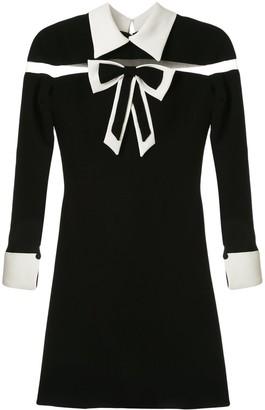 Saiid Kobeisy Bow-Detail Flared Dress