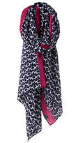 Joules Wensley Fox Terrier Dog Print Scarf, Navy Mix