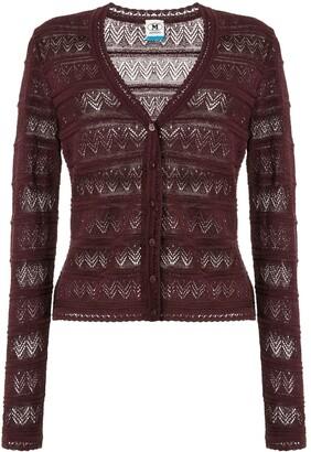 M Missoni zigzag embroidered cardigan