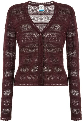 M Missoni Zigzag Embroidered Cardigan