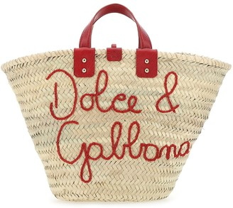 Dolce & Gabbana Logo Embroidered Tote Bag