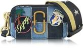 Marc Jacobs Snapshot Denim Camera Bag w/Multi Patches