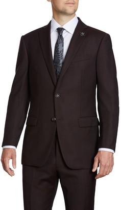 John Varvatos Red Two Button Notch Lapel Suit Separates Jacket