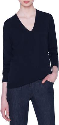 Akris V-Neck Long-Sleeve Cashmere Sweater