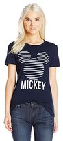 Disney Women's Mickey Head Stripes