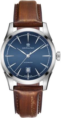 Hamilton Spirit of Liberty Automatic Leather Strap Watch, 42mm