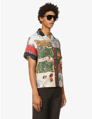 Amiri Souvenir printed relaxed-fit silk shirt