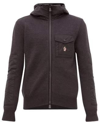 Moncler Zip Through Hooded Sweatshirt - Mens - Grey