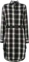 Marcelo Burlon County of Milan checkered belted dress