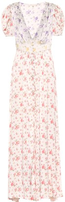 LoveShackFancy Stacy floral silk dress