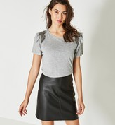 Promod Faux leather skirt