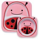Skip Hop Zoo Tableware, Melamine Plate and Bowl Set, Livie Ladybug