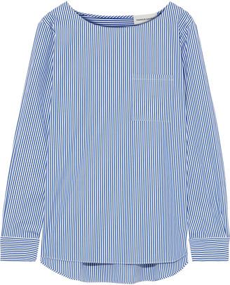 Mansur Gavriel Striped Cotton-poplin Top
