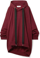 Marques Almeida Marques' Almeida - Asymmetric Oversized Cotton-jersey Hooded Top - Burgundy