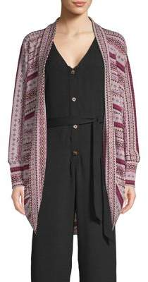 Bobeau B Collection By Cara Cocoon Cardigan Sweater
