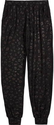 Terez Girl's Foiled Cheetah-Print Jogger Pants, Size 7-14