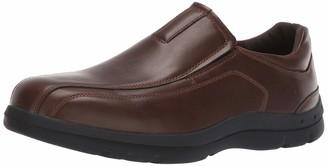 Deer Stags Men's Saxon Memory Foam Classic Runoff Toe Dress Comfort Slip-On Loafer
