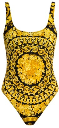 Versace Barocco Low-Back One-Piece Swimsuit