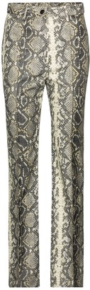 Rotate by Birger Christensen Robyn snake-effect faux leather pants