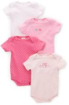 Sweet & Soft Pink Short-Sleeve Bodysuit Set - Infant