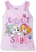 Nickelodeon Little Girls' Toddler Paw Patrol Tank with Tulle Ruffle Trims