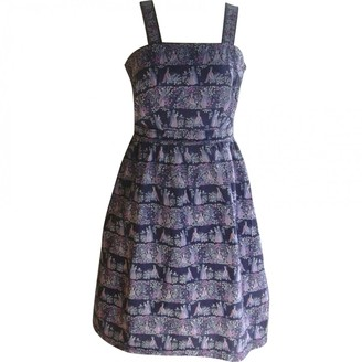 N. Non Signé / Unsigned Non Signe / Unsigned \N Blue Cotton Dresses