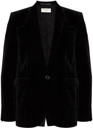 Saint Laurent Single-Breasted Velvet Blazer