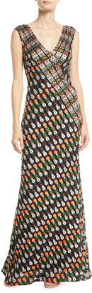 Jovani Multicolor V-Neck Sleeveless Gown
