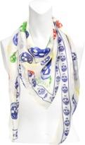 Alexander McQueen 104X120 Multicolore Silk Skull scarf