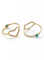 Jordan Askill Gold Heart and Turquoise Ring