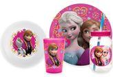 "Disney Frozen"" 4-Piece Anna and Elsa Dinnerware Set"