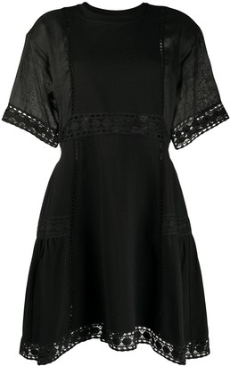 See by Chloe Embroidered Crew Neck Dress