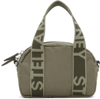 Stella McCartney Khaki ECONYL Small Boston Bag