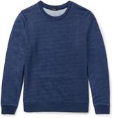Theory Danen Slim-Fit Indigo-Dyed Cotton-Jersey Sweatshirt
