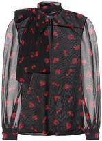 Miu Miu Silk georgette blouse