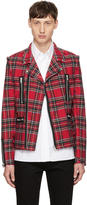 99% Is Red Tartan Rider Jacket